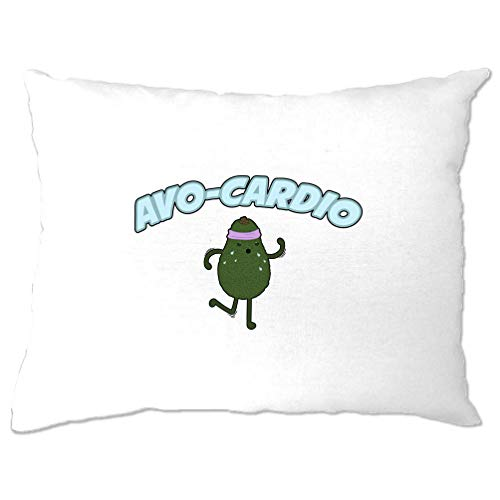 Tim and Ted Carino Avocado Copricuscino Avo-Cardio Workout Pun Slogan White One Size