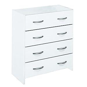 Kommode in weiß - 4 Schubladen