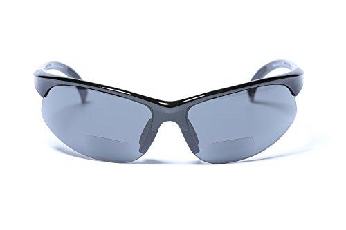 JuicyOrange Sonnenbrille mit Bifokalwillen Leselinse halb Rand Sport Fashion (1,75) 1.75 73 schwarz groß Schwarz