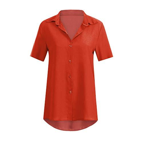 MRULIC Damen Shirt Tie-Bow Neck Striped Langarm Spleiß Bluse Gestreift Damen Tragen Tops Pullover(C-Rot,EU-36/CN-S)