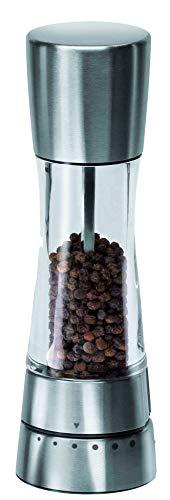 Cole & Mason Derwent H59401G hochwertige Pfeffermühle mit Gourmet-Präzisionsmahlwerk mit voreingestellten Mahlgraden. Edelstahl, Acryl. Maße: 6 x 6 x 19.5 cm -