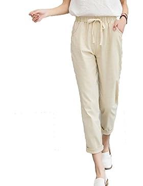 Yying Nuevas Mujeres Ocasionales Harajuku Primavera Otoño Pantalones Largos Sólidos Pies Pequeños Pantalones