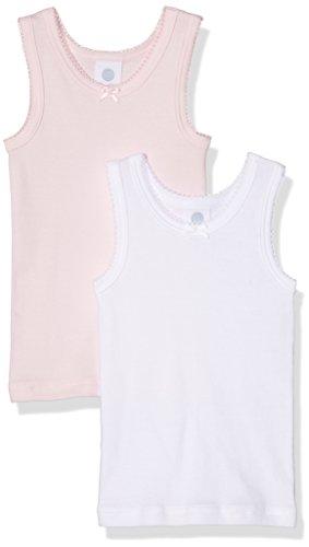 Sanetta Mädchen 333369 Unterhemd, Rosa (Magnolie 3609), 92 (erPack 2) -