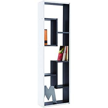 Wandregal modernes design  VOLANS Bücherregal - Weiß ( glänzend ) - Standregal - Wandregal in ...