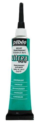 PEBEO Vitrea 160 Outliner für Glasmalerei, 20 ml, smaragdgrün (Pebeo Vitrea 160 Farbe)