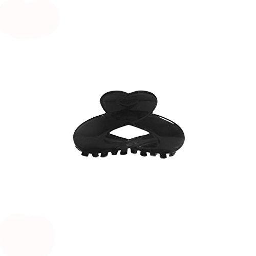 Pince Crabe à Cheveux en Plastique Noir - 6,5 cm - Accessoire Coiffure