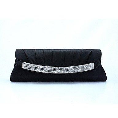 Frauen Mode einfach Diamond lange hand Tasche Black