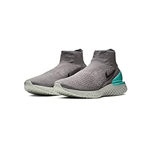 Nike Nike Rise React Flyknit - gunsmoke/black-dark stucco-aur, Größe:9