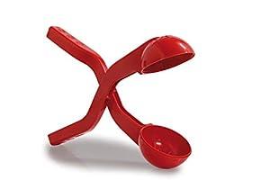 Jamara- 460394-Snow Play Bolas 38cm Suaves, Diámetro de 7 cm Pinza Pelotas Nieve, Color Rojo (460394)