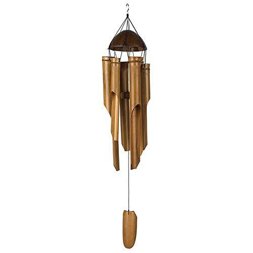 Carillón de viento sonido relajante Feng Shui carillón de viento de bambú...