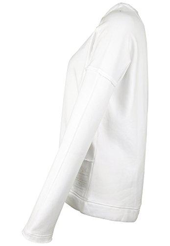 Phil & Lui - Veste Sweat - Décontracté - Uni - Manches Longues Femme plain white