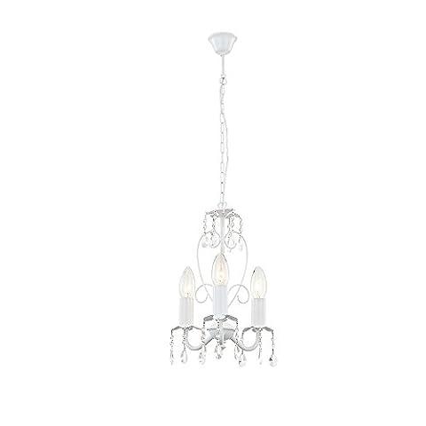 Kronleuchter Luster Decken Lampe Hänge Leuchte Esszimmer weiß Globo PINJA 63126-3