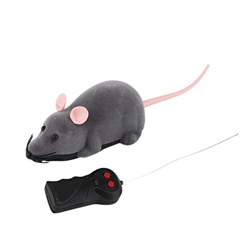 Hermosairis Drahtlose Fernbedienung Maus Kunststoff Simulation Tiere Elektronische Ratte Lustige Motion Mäuse Spielzeug Haustier Katze Spielzeug