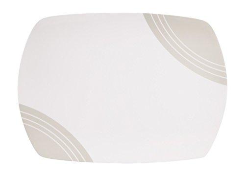 100% Melamin-Geschirr Servierplatte Circle elfenbeinwei…   04260241466607