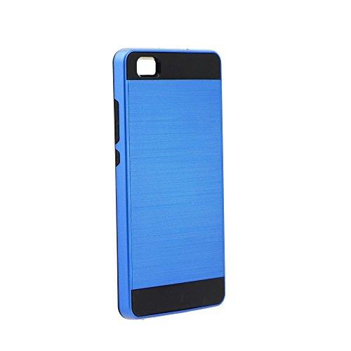 """BACK CASE PANZER für Apple iPhone 7 4,7"""" Hülle Etui Flip Cover TPU Tasche (schwarz) blau"""