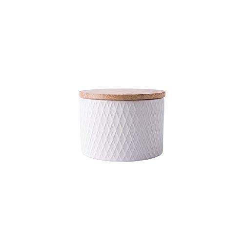 OnePine Runde Frischhaltedose mit Bambus Deckel Vorratsdose Kaffeedose Teedose Versiegelte Dose,...