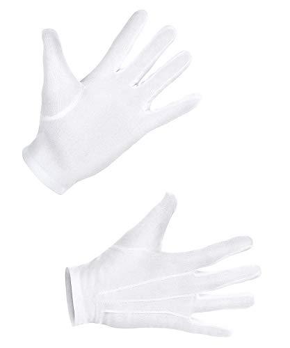 NEU Handschuhe mit Knopf & Biesen, weiß, XL