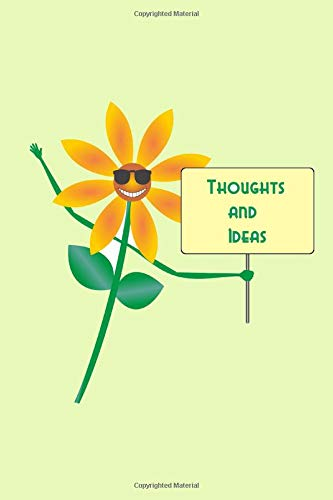 Thoughts and Ideas: A creativity journal to express yourself - blank lined pages - cute daisy cover Maxi Daisy