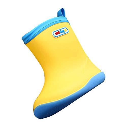 YIBLBOX Baby Infant Toddler Boys Girls Wellies Wellington Waterproof Rain Boots Warm Winter Rain Shoes