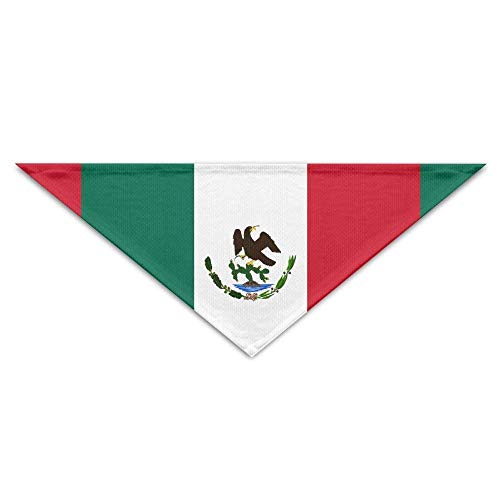 exico Bird Mexico Flag Dog Bandanas Scarves Triangle Bibs Scarfs Lovely Basic Neckerchief Cat Collars Pet Costume Accessory Kerchief for Large&Medium&Small Puppy ()