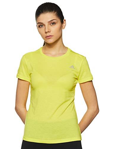 adidas Damen Freelift Prime Kurzarm T-Shirt, Shock Yellow, M -