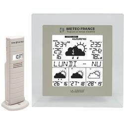 WD9521IT-TRA-T couleur Taupe | Station METEO FRANCE J + 3 avec indication des niveaux de vigilance - heure et date - températures intérieure/extérieure - hygrométrie extérieure - texte météo défilant