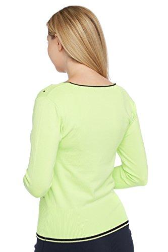 Roman Originals - Pull Motif à Pois Casual Confortable - Femme Vert