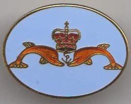 MOD Approved Pin Badge - Sub Mariner Royal Naval Dolphins Badge - Issued on Completion of Training by the Royal Navy Submarine Service
