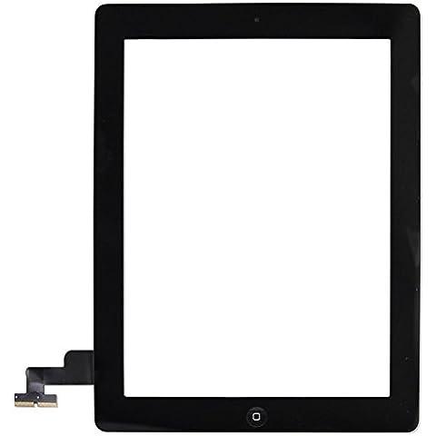 IPad 2 pantalla táctil digitizador de vidrio de montaje (negro) - Incluye Home Button titular de la cámara Pre-instalado Adhesivo pegatinas Marco bisel y profesional Kit de