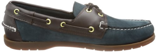 Sebago  ENDEAVOR, Chaussures bateau homme Bleu (Navy Nbk/Brown Lea)
