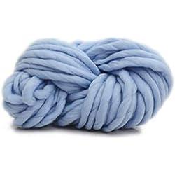 Lana de Islandia gruesa para macramé, azul