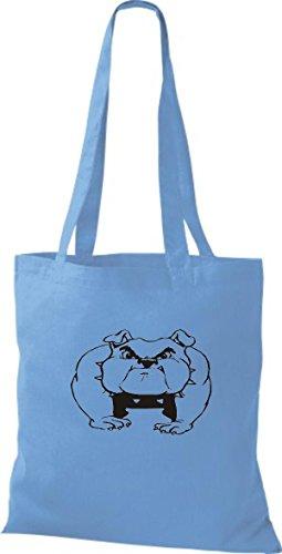 surf Züchter diverse blue Lustige Rasse Tiere Hunde ShirtInStyle Motive Stoffbeutel Hund Farbe qawgwv