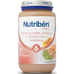 Nutribén - Potito Ciruela Plátano Uva y Naranja Nutribén Especial Fibra 250 gr 6m+