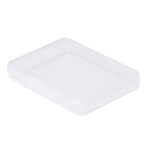 Rechteckige Kunststoff Klar Transparent Aufbewahrungsbox Sammlung Container Organizer