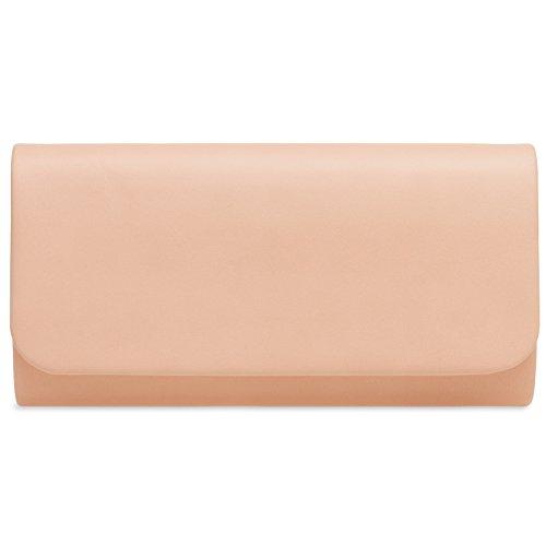 CASPAR TA404 Damen Baguette Clutch Tasche Abendtasche, Farbe:rosa;Größe:One Size (Baguette Handtasche Leder)