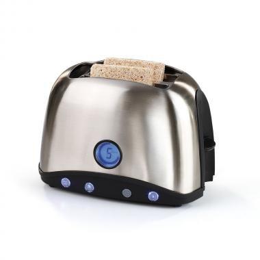 Domoclip - dod123 - Grille-pains 2 fentes 920w avec écran lcd inox