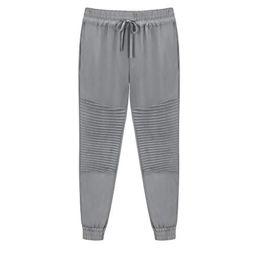 XNBZW Damen Jogger Hosen Bein Hose Elastische Taille Trainingsanzug Hosen Jogging Fitness Yoga Hosen(Grau,S)