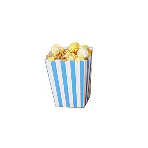 Popcorn-Boxen Fries Cup Party Supplies - Blaue Streifen - 12PCS