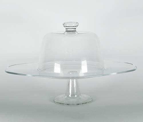 Takestop® - Tartera elevada Cristal Tartas, Campanas