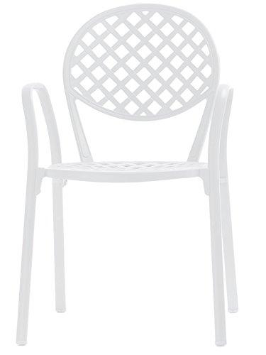 Fast Europa Fauteuil empilable en aluminium Art.3000 couleur blanc