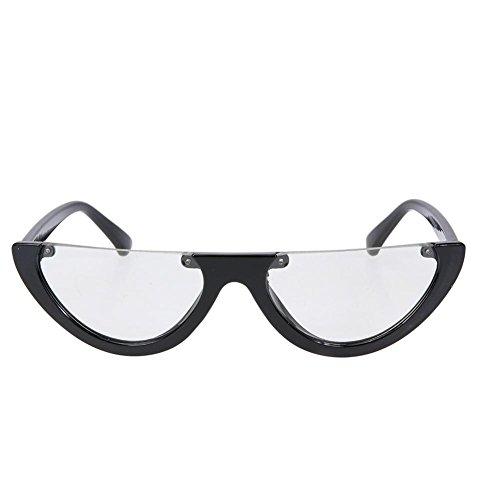 Domybest Damen Klare Persönlichkeit Trendy Europäischen Sonnenbrille Coole Brillen (D)