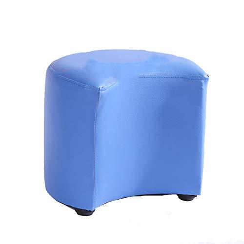 footstool Kreativer Lederner Schemel Kleiner osmanischer Sitz-Schemel-Fußrasthocker Tragbarer Weicher Bequem Einfach zu store27 * 31cm