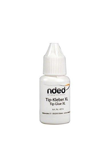 NDED Spezial Tipkleber - Profi Nagelkleber für künstliche Fingernägel, 7 5 g mit Pinsel