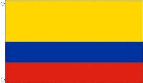 1.52 x meters 0.91 meters (150 cm x 90 cm) und Kolumbien kolumbianischen 100% Polyester, Material Fahne Flagge Banner, Ideal für Pub, Club, Schulfest Business Party-Dekoration