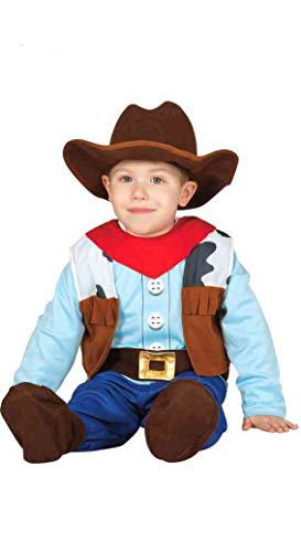 Guirca Costume Vestito Cowboy Baby Carnevale Bambino Taglia 1-2 Anni, Colore mulicolor, FG83305