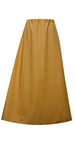 Damen Indian Saree Baumwolle fertige petticoat oder gesteppt Unterrock in einer Größe 022 - Damen, Khakhi, Einheitsgröße