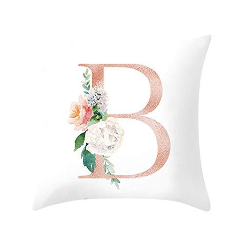 Storerine Muttertag spezielle Kissen, Sofa Home Decoration Blume Kissenbezug Brief Kissen Briefkissen Set