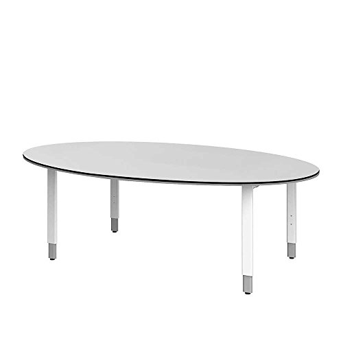 Ovaler Konferenztisch in Weiß 220 cm Pharao24
