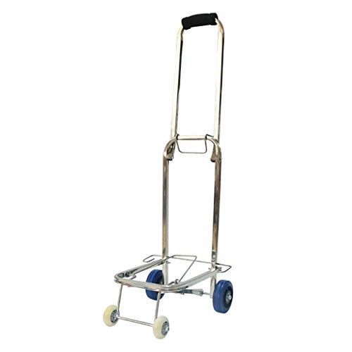 Fktrolley Einkaufswagen-faltender Laufkatze-tragbares Haushalts-Lebensmittelgeschäft, Das Gepäck Lädt, Laden 40kg Senioren-Licht Vier Umläufe Edelstahl