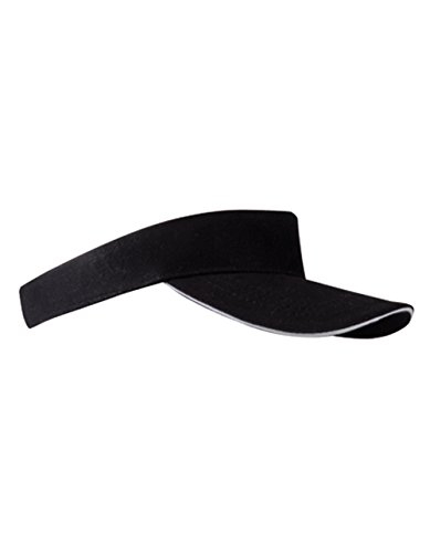 9ff49103fd57 Sun Visor Cap Sandwich Sonnenblende Mütze Sport Kappe viele Farben (Black  White)